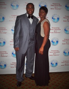Pictured Founder Saya Doe-Sio with her husband Francis Sio at the gala on Saturday night.