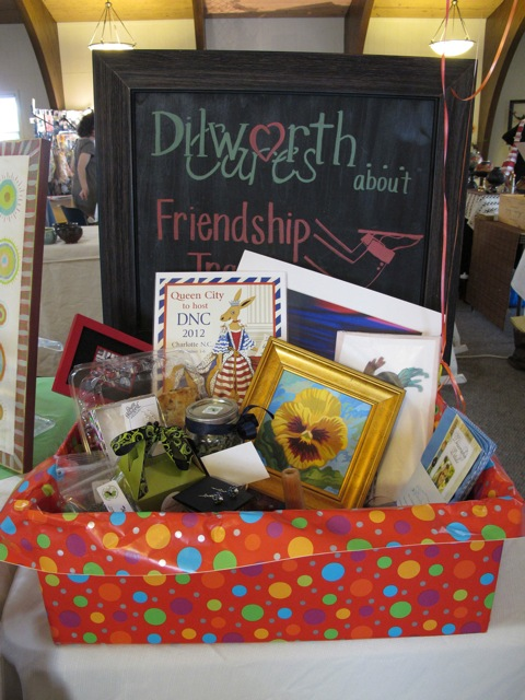 Courtesy of CAC A 2012 Dilworth Cares gift basket. This year's annual Holiday Art Show and Sale is at Avondale Presbyterian Church's Fellowship Building, 2821 Park Road, Charlotte, 10 a.m.- 4 p.m. on Nov. 8.