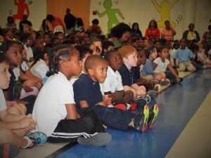 All 458 Sedgefield Elementary students, pre-K through fifth grade, received 6,250 books to take home for summer reading.