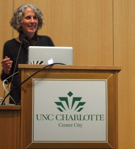 "Pictured, Julie Campoli presenting ""Made for Walking,"" her second book published by the Lincoln Institute of Land Policy. Find out more about her latest work and read sample chapters at http://www.lincolninst.edu/pubs/2150_Made-for-Walking."