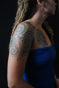 Amy Stewart is a local YMCA member and Charlotte resident who showed off her tattoo for the photography project in 2010. CEA